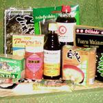 Nori Seaweed Wrappers; Kombu Sea Kelp, Soy Sauce, Wakame Seaweed, Miso, Ponzu Dipping Sauce, Soba Noodles, Pickled Ginger, Green Tea, and Tempura Batter Mix