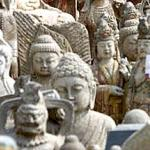 Replicas of antique statues, at an antique market in Beijing.