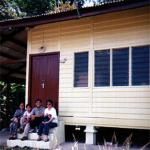 The house where the author grew up, in Kuala Lipis, Pahang, Malaysia.