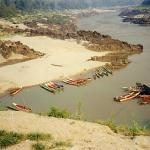 The local boat park - Pakbeng - Mekong River.