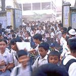 School Students in Phnom Penh, Cambodia.