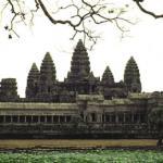 Khmer temple ruins.