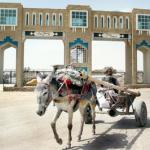 An elderly Pakistani man drives his donkey cart crossing the Gate of Friendship, a new border post linking south-west Pakistan with south-east Afghanistan in Chaman. The new border gate was founded 300 meters further away towards Afghanistan than the previous one. The Pakistani authorities said they only returned to the Durand Line border abandonned after the Soviet invasion of Afghanistan, but the Afghan population claim it has been build inside Afghanistan.