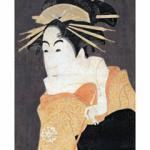 This handout picture shows a Japanese print by Sharaku Toshusai 'Actor Matsumoto Yonesaburo', part of French Hugette Beres' collection of Japanese prints, drawings and books. Beres' collection, estimated to five million-euro was auctioned 27 November 2002 at Sotheby's Paris.