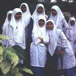 Muslim schoolgirls, Kuala Lipis, Malaysia.