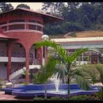 The visitor center at Rimba Ilmu Botanical Garden, Kuala Lumpur, Malaysia.