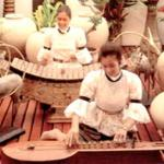 Traditional musicians at the Royal Garden Resort, Thailand.