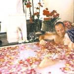 Flower blossom bath at the Royal Garden Resort.