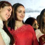 Indian actresses Kareena Kapoor (L), Esha Doel (C) and Ranee Mukherjee (R) are in the Indian movie 'Line Of Control'.