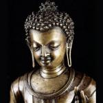 Photo of a rare 7th century Buddha Sakyamuni statue which has been acquired jointly by the British Museum and the Victoria and Albert Museum in London.
