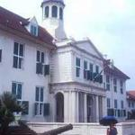 Jakarta History Museum, the former town hall on Taman Fatahillah in the old Kota district of Jakarta.