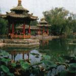 One of the many beautiful gardens in Xian city.