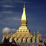 The golden spire of Vientiane's Pha That Luang symbolises Lao sovereignty and has recently replaced the hammer and sickle on the national crest.