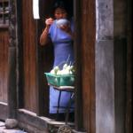 The villagers who live in Wuzhen are as interested in the visitors as the visitors are in the ancient town.