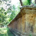The shaded and secluded outer wall of Angkor Wat makes for a great walking route.