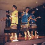 A khantoke dinner usually includes several dance performances, including this one of the Karen hill-tribe, who inhabit the higher altitudes of the former Lan Na kingdom.