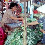 Vegetable market off Tran Hung Dao Street, Cholon.