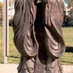 Statue of Confucius located at The Chinese Cultural Centre of Greater Toronto. Confucius' philosophy of good conduct and social propriety strongly influences Chinese deportment.