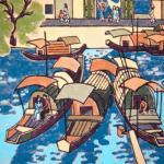 "Tran Tuyet-Mai, Gia Hoi, 1992, woodblock, 19"" x 14"""