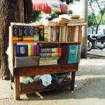A roadside bookstand