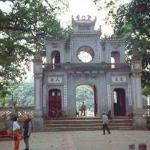 This is a temple on Hanoi's West Lake.