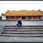 Inside Hue's Citadel, a newly restored building at the main gate of the Forbidden City.