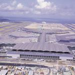 Chek Lap Kok's Y-shaped terminal resembles an airliner in flight.