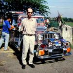 The author wonders if he has $8,000 to spend on a brand-new silver jeepney.