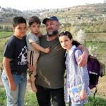 Ghazi Brigieth and his family, Beit Ommar.