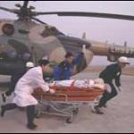 Medical escorts at work.