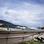 Fishing boats on Phuket's Karon Beach.