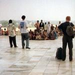 Agra, India. This group's numbers draw the attention of Western tourists.