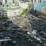 Busy streets at Dongdaemun Market