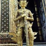Mythical creature stands guard at the Royal Palace, Bangkok
