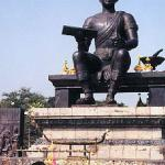 Sukhothai flourished under amkamhaeng. He created the first truly Thai alphabet, drawn from Mon and Khmer systems, themselves Indian in origin. The script appeared for the first time in 1292 in a kind of State of the Union address etched upon the four sides of a rectangular solid of stone, a replica of which stands near a statue of Ramkamhaeng on the present site.