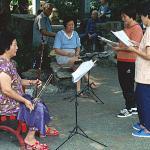 Music in Lou Lim Ieoc Garden, Macau.